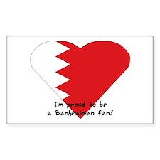 Bahrain fan flag Rectangle Decal
