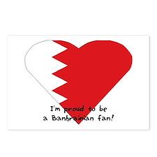 Bahrain fan flag Postcards (Package of 8)