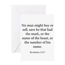 Revelation 13:17 Greeting Card