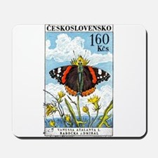 1961 Czech Red Admiral Butterfly Postage Stamp Mou