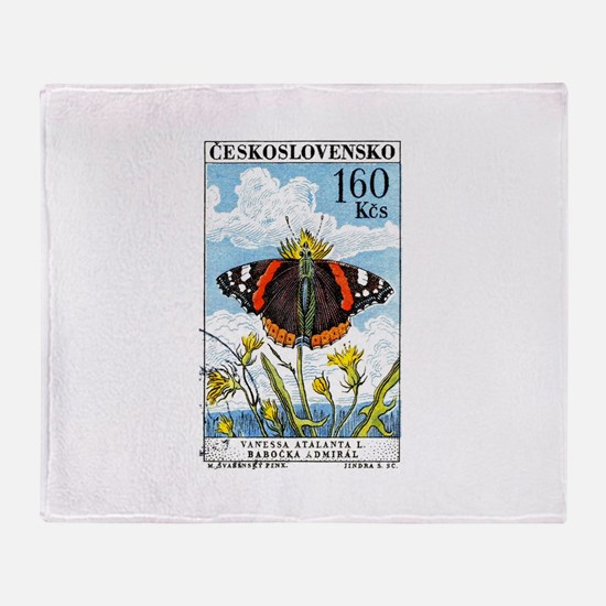 1961 Czech Red Admiral Butterfly Postage Stamp St