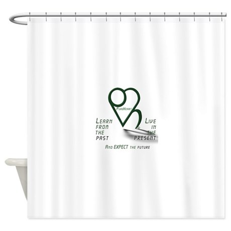 Learn from the Past Shower Curtain