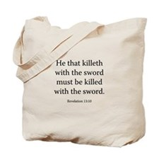 Revelation 13:10 Tote Bag