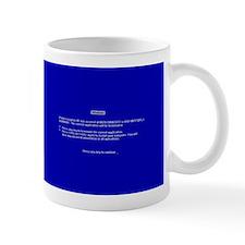 Unique Blue screen of death Mug