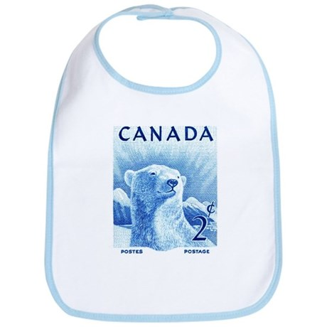 1953 Canada Polar Bear Postage Stamp Bib