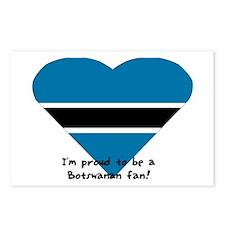 Botswana fan flag Postcards (Package of 8)