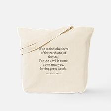Revelation 12:12 Tote Bag