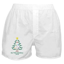 Our First Christmas 2012 Boxer Shorts