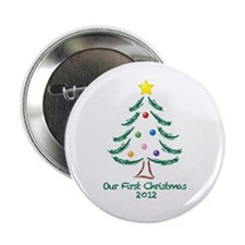 """Our First Christmas 2012 2.25"""" Button"""