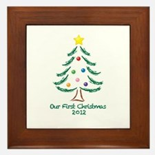 Our First Christmas 2012 Framed Tile