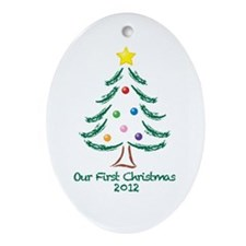 Our First Christmas 2012 Ornament (Oval)