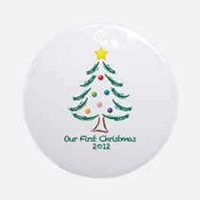 Our First Christmas 2012 Ornament (Round)
