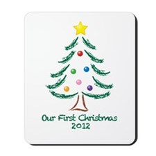 Our First Christmas 2012 Mousepad