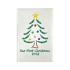 Our First Christmas 2012 Rectangle Magnet