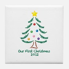 Our First Christmas 2012 Tile Coaster