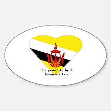 Brunei fan flag Oval Decal