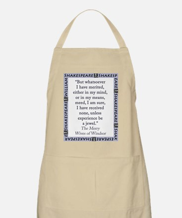 But Whatsoever I Have Merited Light Apron