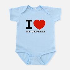 I Love My Ukulele Infant Bodysuit