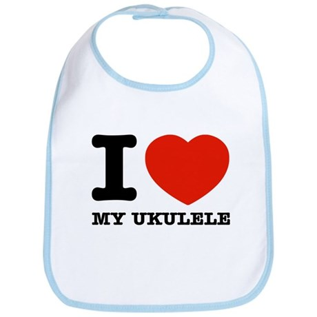 I Love My Ukulele Bib