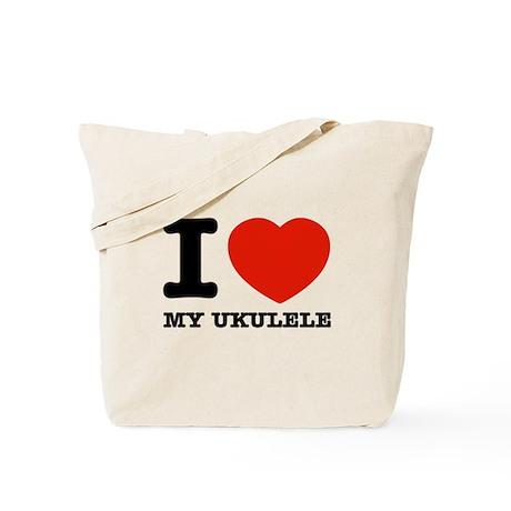 I Love My Ukulele Tote Bag