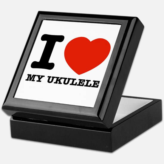I Love My Ukulele Keepsake Box