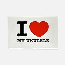 I Love My Ukulele Rectangle Magnet