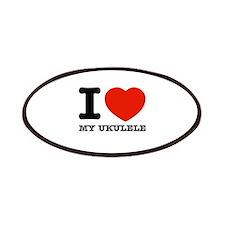 I Love My Ukulele Patches