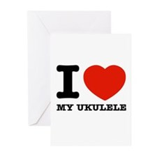 I Love My Ukulele Greeting Cards (Pk of 10)