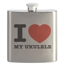 I Love My Ukulele Flask