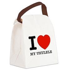 I Love My Ukulele Canvas Lunch Bag
