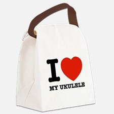 I Love My Ukulele Canvas Lunch Bag