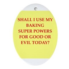 BAKING.png Ornament (Oval)