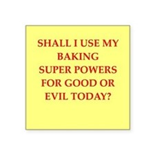 "BAKING.png Square Sticker 3"" x 3"""