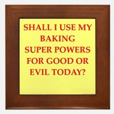 BAKING.png Framed Tile