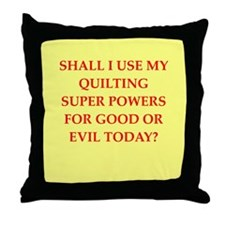 QUILTING.png Throw Pillow