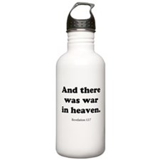 Revelation 12:7 Sports Water Bottle