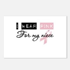 I Wear Pink For My Niece (BCA) Postcards (Package