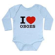 I Love Oboes Long Sleeve Infant Bodysuit