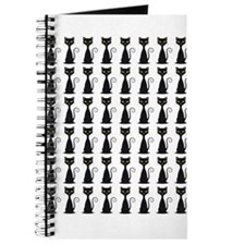Pretty Wall of Black Cats Journal
