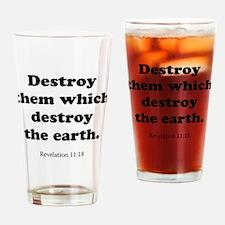 Revelation 11:18 Drinking Glass