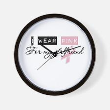 I Wear Pink For My Girlfriend (BCA) Wall Clock