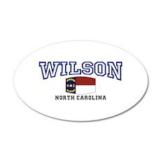 Wilson, North Carolina USA 20x12 Oval Wall Decal
