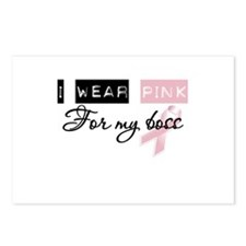 I Wear Pink For My Boss Postcards (Package of 8)