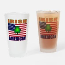 Irish American Pride Drinking Glass