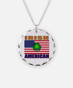 Irish American Pride Necklace Circle Charm