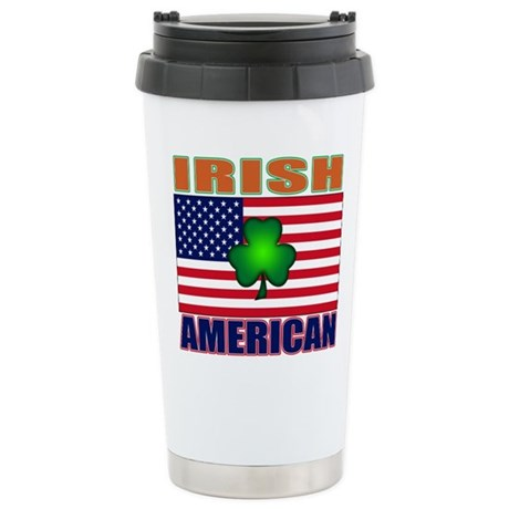 Irish American Pride Stainless Steel Travel Mug