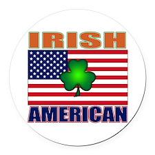 Irish American Pride Round Car Magnet