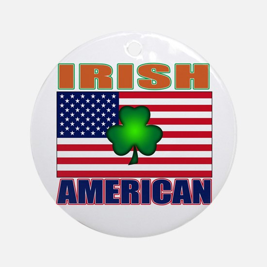 Irish American Pride Ornament (Round)