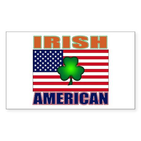 Irish American Pride Sticker (Rectangle)