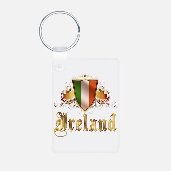 Irish American Pride Aluminum Photo Keychain